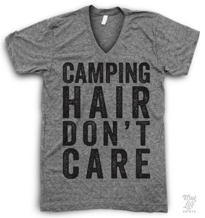 Camping Hair Don't Care V Neck