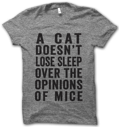 Personal life motto for the cat lady in use all, don't lose sleep over the opinions of mice!
