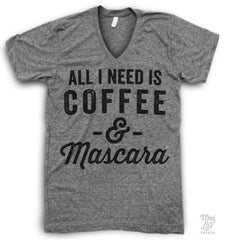 Coffee And Mascara V Neck