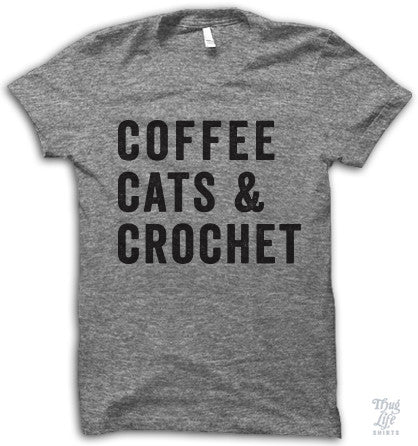 Coffee, cats and crochet for life.