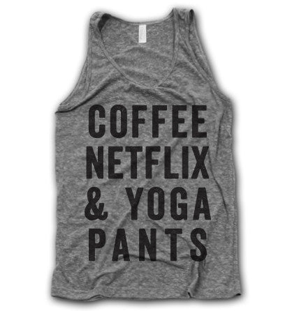 Coffee Netflix Yoga Pants