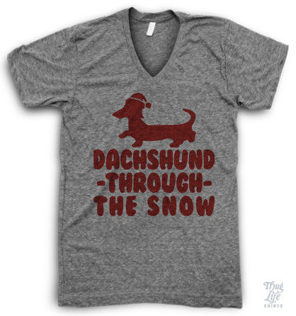 Dachshund through the snow!