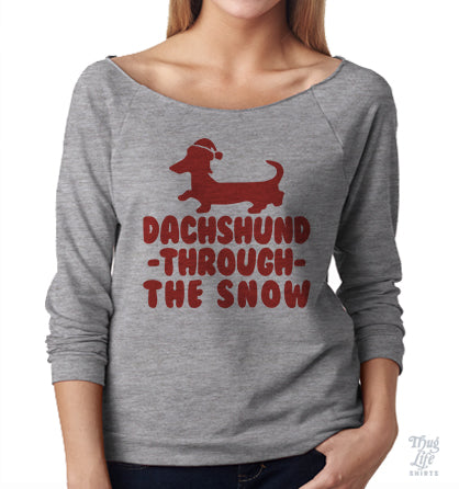 Dachshund Through The Snow Raglan
