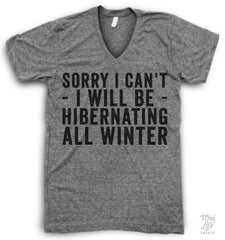 Hibernating All Winter V Neck