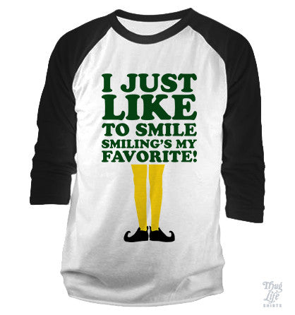 I Just Like To Smile Baseball Shirt