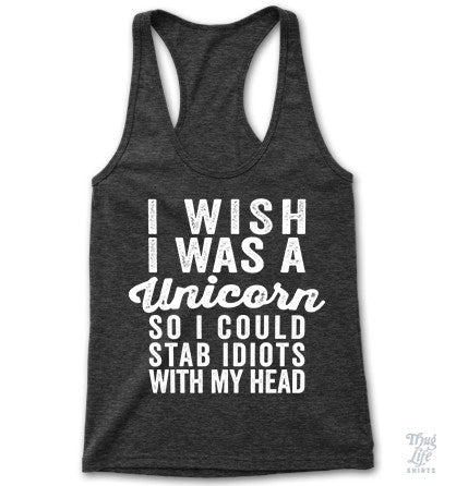 I Wish I Was A Unicorn Racerback