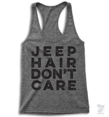 Jeep HAir Don't Care Racerback