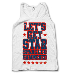 Distressed Let's Get Star Spangled Hammered Tank