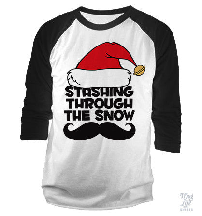 Stashing Through The Snow Baseball Shirt