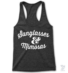 Sunglasses And Mimosas Racerback