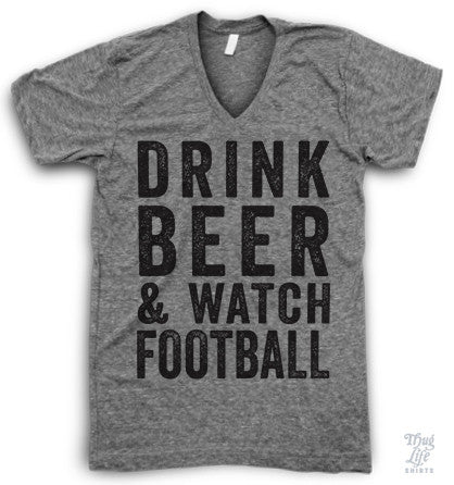 Watch Football V Neck