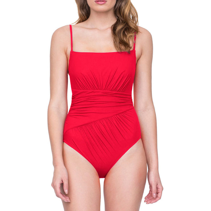 Gottex Vista Red Square Swimsuit