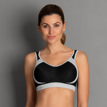 Load image into Gallery viewer, Anita Wireless Sports Bra In Black/Grey