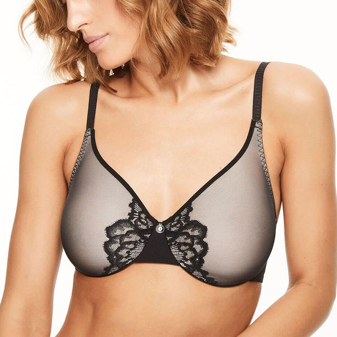 Chantelle Orangerie Smooth Full Coverage Bra Black