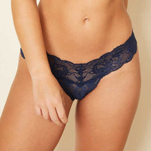 Load image into Gallery viewer, Cosabella Never Say Never Thong Navy