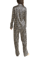 Load image into Gallery viewer, Ginia Long Sleeve Silk Pyjama In Leopard Print