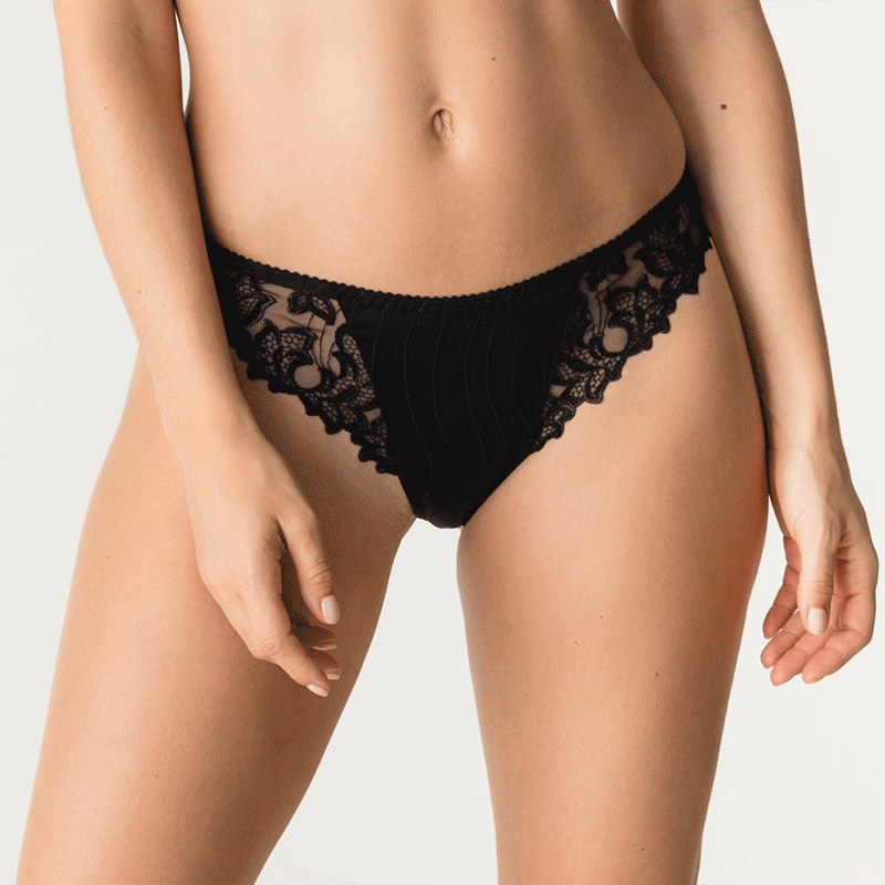 0661810, Deauville thong in black