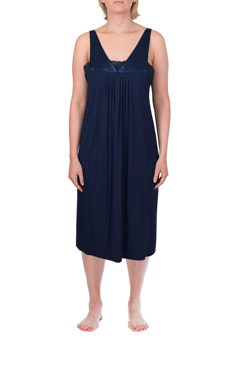 Yuu Sleeveless Nightdress in Navy