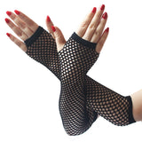 Long Mesh Gloves for Women - Hollow Out Mesh Sexy Gloves
