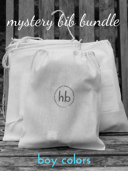 Mystery Charlie Bib Bundle - Boy Colors