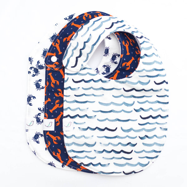 *NEW* Nautical Charlie Bib SET OF THREE // Salty
