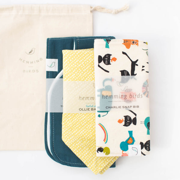 *LIMITED* GIFT SET // Merry // Charlie Bib + Ollie Bib + Burp Cloth