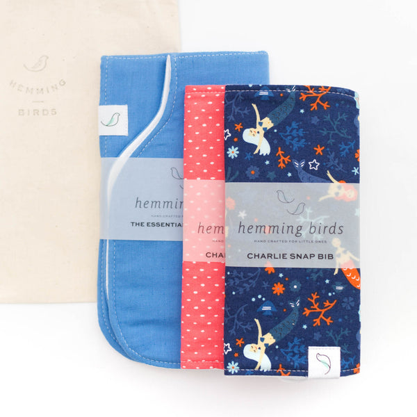 *NEW* GIFT SET // Isle // two Charlie Bibs + one Burp Cloth