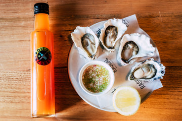 Kyle Nicol's Paw Paw and Bottle Brush Mignonette Recipe