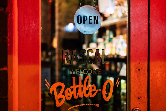 Open for Takeaway Booze and Food