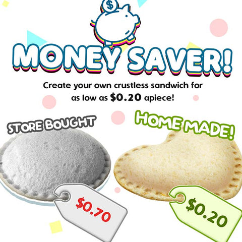 Sandwich Cutter and Sealer (Heart, Star, Mouse)