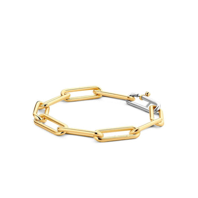 Gold-plated Paperclip Bracelet by TI SENTO - West Orange Jewelers, Parsippany NJ