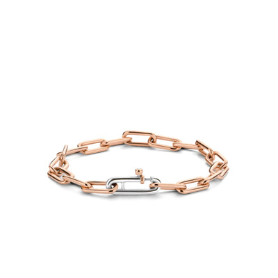 Rose Paperclip Bracelet by TI SENTO - West Orange Jewelers