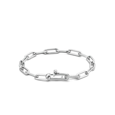 Silver Paperclip Bracelet by TI SENTO - West Orange Jewelers