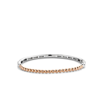 Rose Beaded Bangle by TI SENTO - West Orange Jewelers
