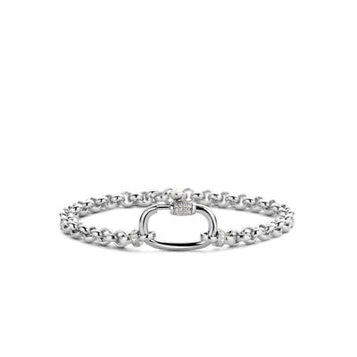 Rolo Bracelet with Zirconia Accent by TI SENTO - West Orange Jewelers