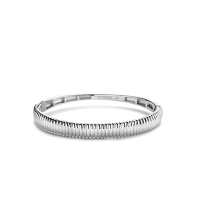 Chunky Ribbed Bangle by TI SENTO - West Orange Jewelers