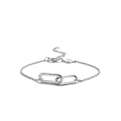 Connected Silver Link Bracelet by TI SENTO - West Orange Jewelers