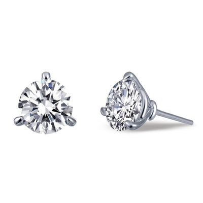 Simulated Diamond Stud Earrings in Martini Setting - West Orange Jewelers, Parsippany NJ
