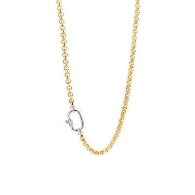 Rolo Necklace with Zirconia Accent by TI SENTO - West Orange Jewelers