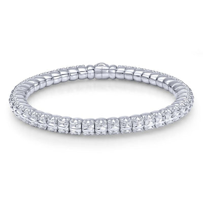 Silver Textured Bangle by Gabriel&Co. - West Orange Jewelers, Parsippany NJ
