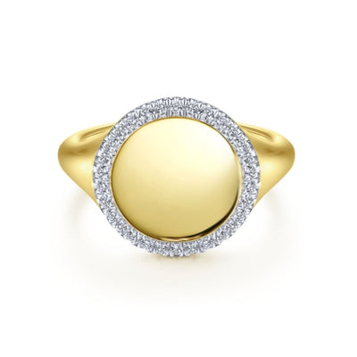 Signet Ring by Gabriel&Co. - West Orange Jewelers