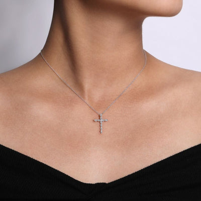 Segmented Diamond Cross by Gabriel&Co. - West Orange Jewelers
