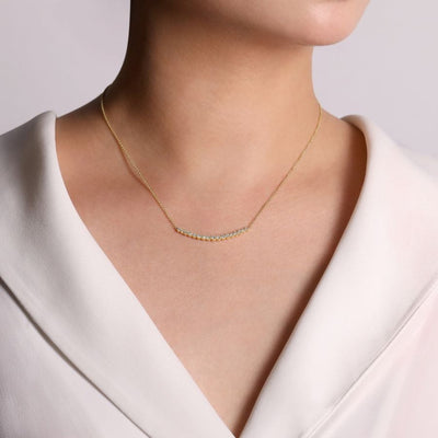 Curved Bar Necklace by Gabriel&Co. - West Orange Jewelers, Parsippany NJ