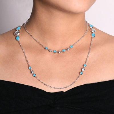 Turquoise Necklace by Gabriel&Co. - West Orange Jewelers