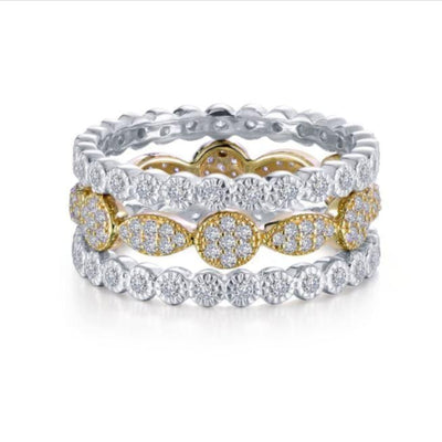 3-Piece Eternity Ring Set by Lafonn - West Orange Jewelers