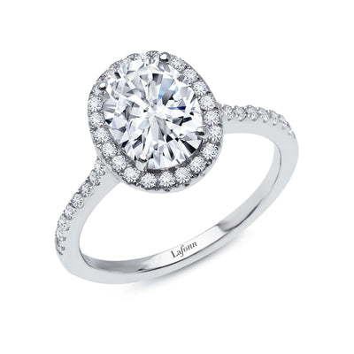 Oval Halo Engagement Ring by Lafonn - West Orange Jewelers