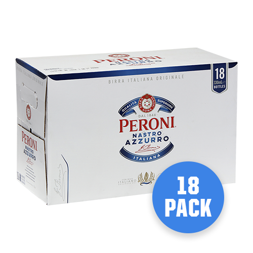 Peroni Nastro Azzurro 18 pack - Drinks Trolley | Asahi NZ