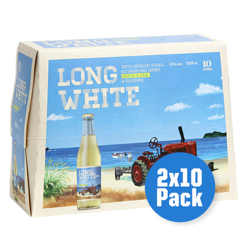 Long White Vodka Lemon & Lime 2 x 10 pack - Drinks Trolley | Asahi NZ
