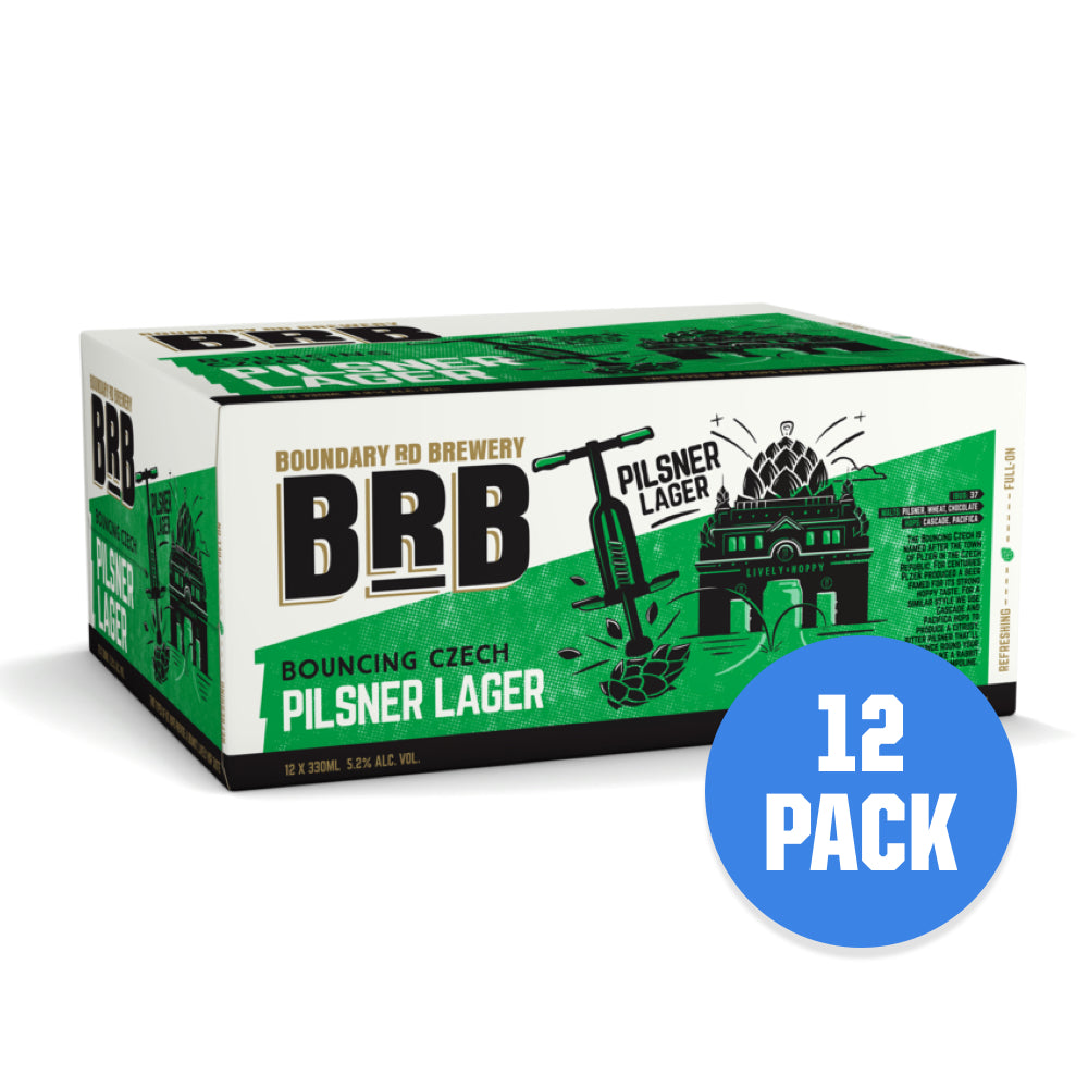BRB Bouncing Czech Pilsner 12 pack - Drinks Trolley | Asahi NZ