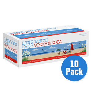 Long White Crisp Vodka Soda Cranberry 10 pack - Drinks Trolley Asahi | NZ